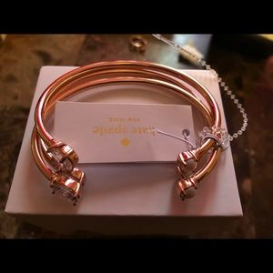 kate spade toe the line bangle set 3pcs